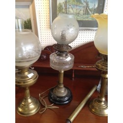 Oil Lamp With Glass oil bowl