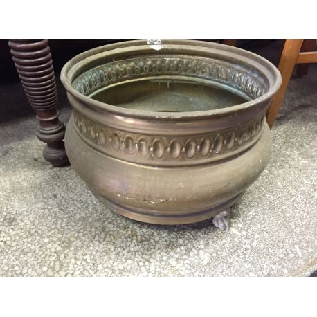 Old Brass Flower Pot