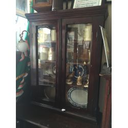 Gothic Style Pitch Pine Display Cabinet
