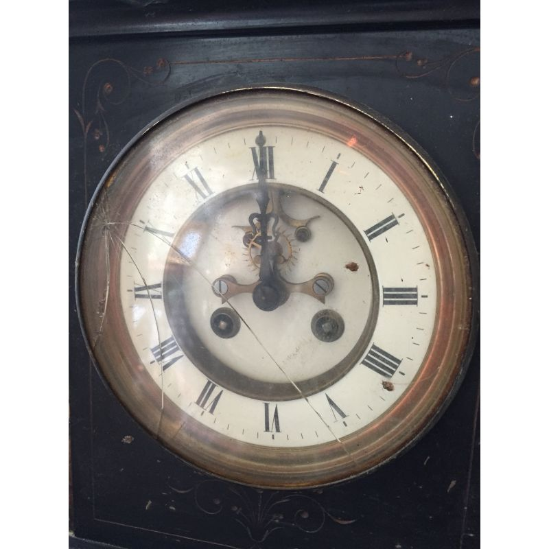 Large Slate Amp Marble Mantle Clock Antiques Christy Bird S