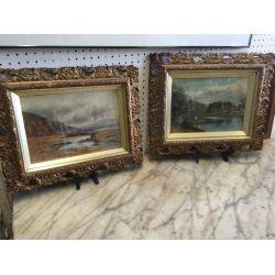 Pair of Old Oil Paintings
