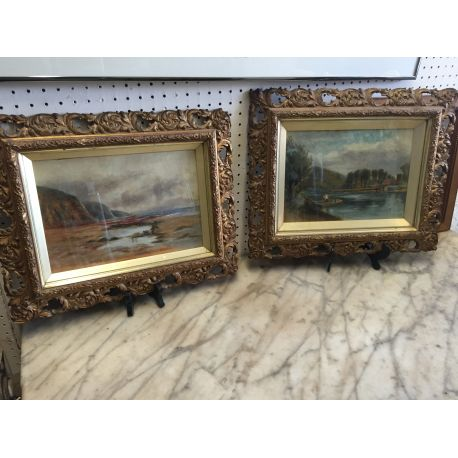 Pair of Old Oil Paintings