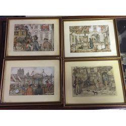 Set of Four Anton Pieck Prints