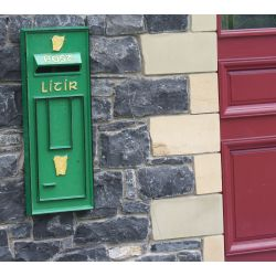 Irish Post Box Front