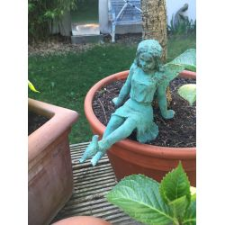 Cast Iron Sitting Fairy