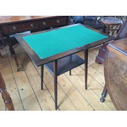 Oak Fold Away Card Table