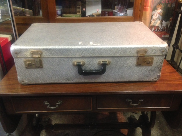 Vintage Metal Suitcase - Antiques @ Christy Bird's