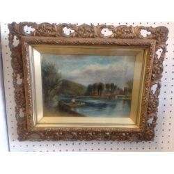 Pair of Antique Oil Paintings.