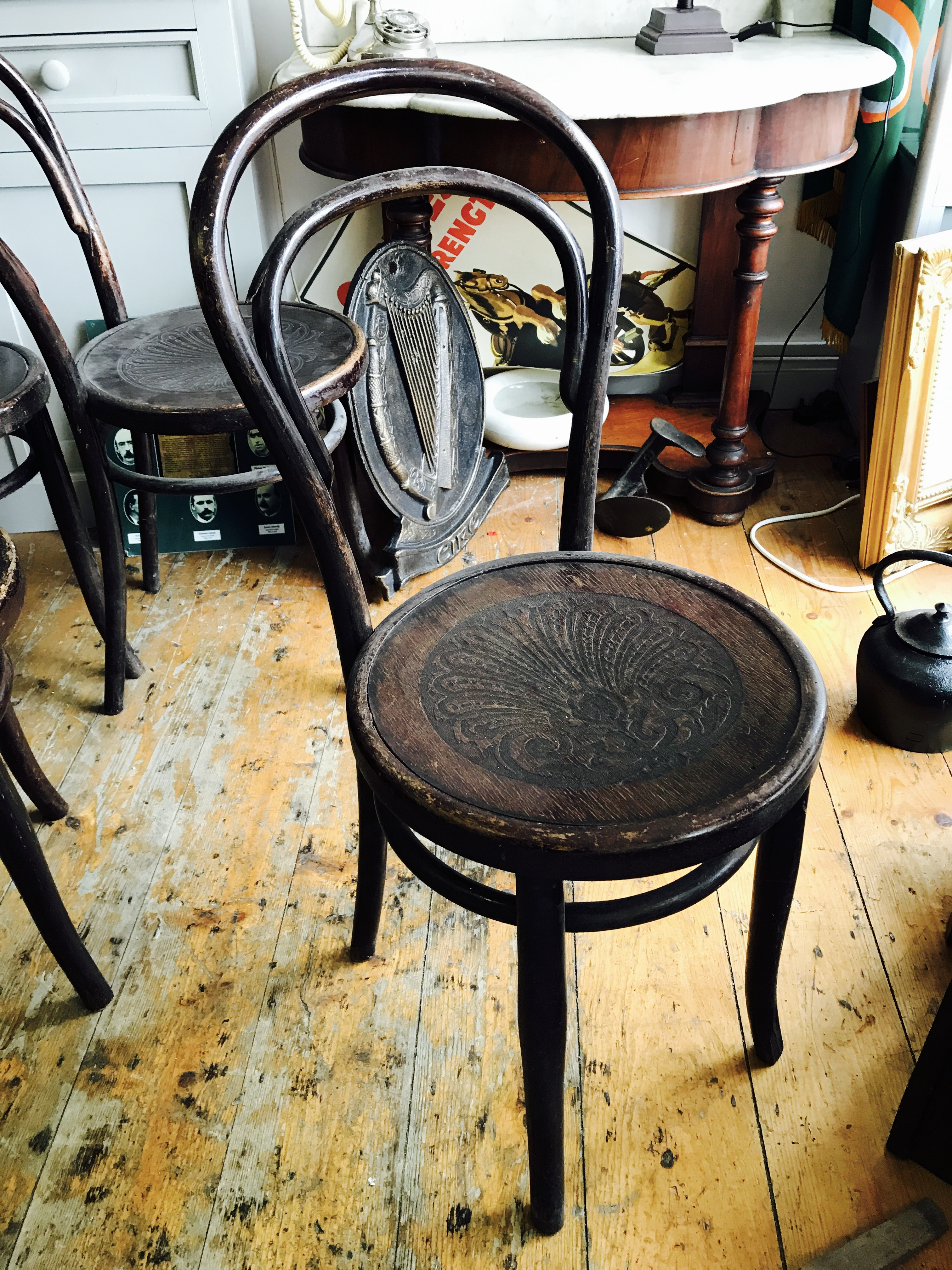 Classic Original Bentwood Chairs From The 1920u0027s.