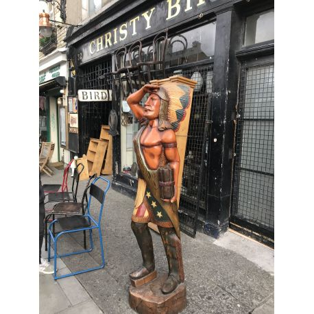 Large Indian Wooden Statue