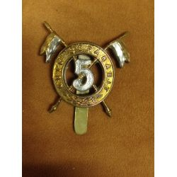 BRITISH 5th IRISH LANCERS cap badge