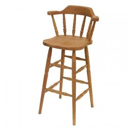 Bar Stool with Spindle Back