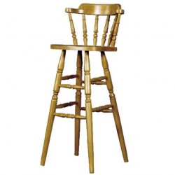 Spindle Small Back Bar Stool