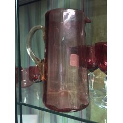 Large Ruby Glass Pitcher