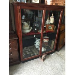 Old Mahogany Trophy Display Cabinet