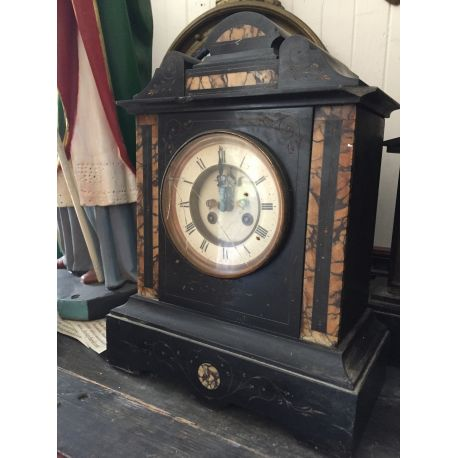 Large Slate & Marble Mantle Clock