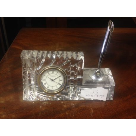 Waterford Crystal clock/pen holder