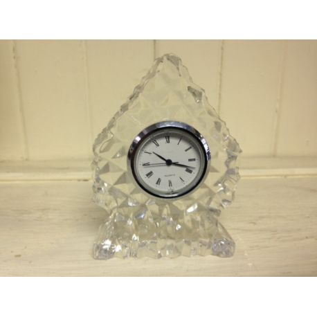 Crystal Glass Mantle Clock