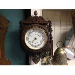 Vintage Oak Barometer
