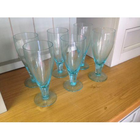 6 Blue Glasses