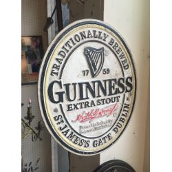 Cast Iron Guinness sign