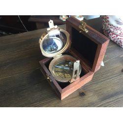 Brass Compass in Box