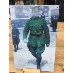 Micheal Collins Enamel sign