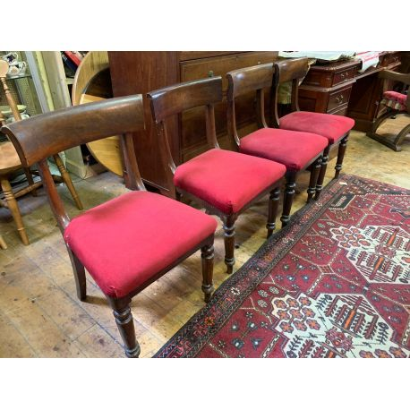 Set of 4 William IV Dining Chairs.