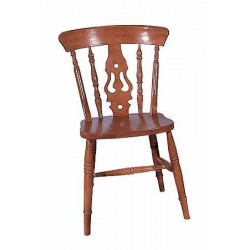 Wide Seat Fiddle Back Chair
